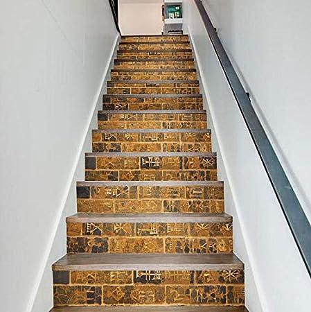 kwpkh Pegatinas De Escalera Ladrillo De Piedra 3D A Prueba De Agua Autoadhesivo Piso De Pared Extraíble PVC DIY Decoración para El Hogar 13 Piezas: Amazon.es: Hogar