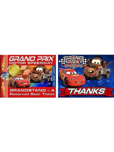Cars 'Grand Prix Dream Party' Invitations and Thank You Notes w/ Envelopes (8ct) -