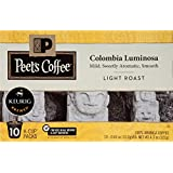 Peet's Coffee, Colombia Luminosa, Light Roast, K-Cup Pack (60 ct.), Single Cup Coffee Pods, Mild, Bright, Smooth Light Roast Blend of Columbia & Ethiopian Coffees; for All Keurig K-Cup Brewers