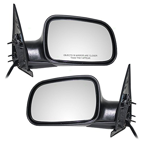 Driver and Passenger Power Side View Mirrors Textured Replacement for Jeep SUV 55155447AF 55155446AG AutoAndArt