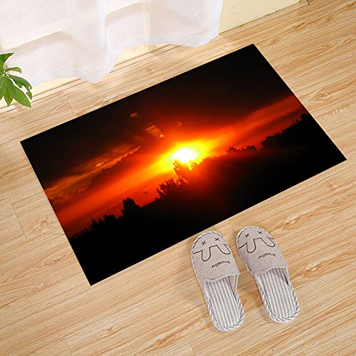 JANNINSE Sunset Landscape Large Door Mat, Absorbent Door Mat