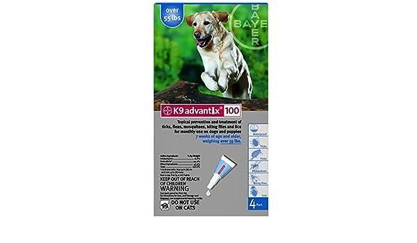 K9 Advantix Flea Control for Dogs Over 55 Pounds (4 Applications) by K-9 Advantix: Amazon.es: Hogar