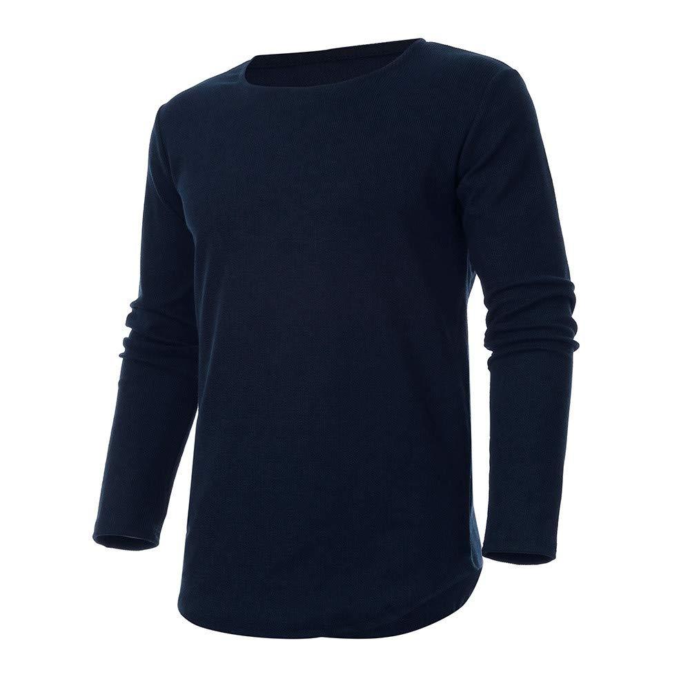 Sudadera con Capucha de Manga Larga para Hombre, ♚ Absolute Otoño Casual Sudadera con Cuello en V sólida Camiseta Top Blusa: Amazon.es: Ropa y accesorios
