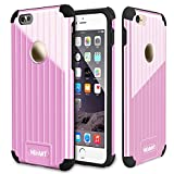 Ghevant iPhone6 Plus Case,Soft TPU + Hard PC armor case,Dust proof Fingerprint proof Shock proof case,Package Design Case For iPhone6 Plus,Smooth Surface Case for iPhone6 Plus(Pink)