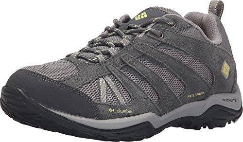 Columbia Women's Dakota Drifter Waterproof Hiking Shoe, Light Grey, Sunnyside, 8 B US