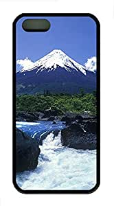 iPhone 5s Case, iPhone 5s Cases - Landscapes mountain stream TPU Polycarbonate Hard Case Back Cover for iPhone 5s¨CBlack