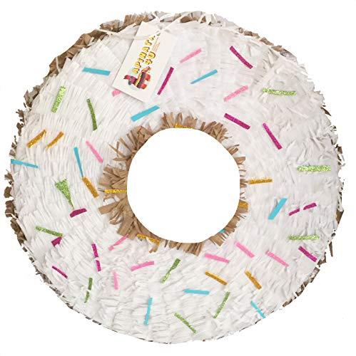 - APINATA4U White Doughnut Shape Pinata Sugar Doughnut Party Favor