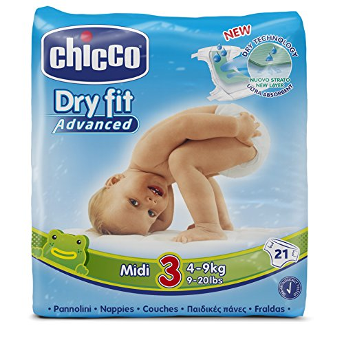 Chicco Dry Fit Advanced Midi Taped Diaper Size 3 21 Pieces