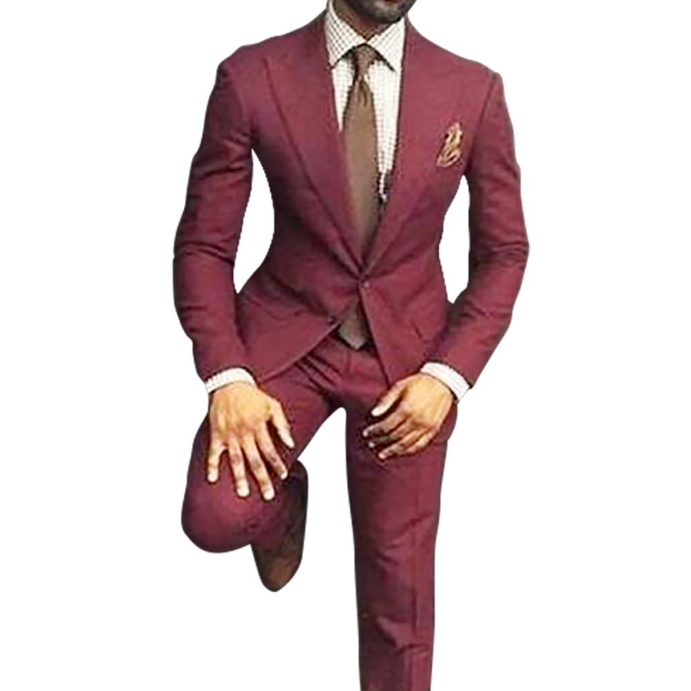 Fashionable Mens Tailored Slim Fit Tuxedo Modern Groom