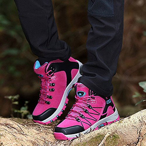 Outdoor Lightweight High Women Shoes Hiking Shoes Trekking Mesh Walking Shoes Top Sports Shoes Pink snfgoij Ladies Hiking Shoes BzUqg1Ox