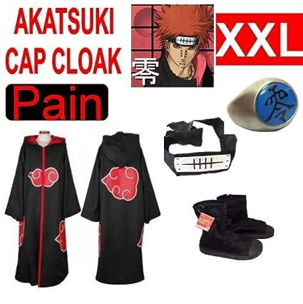 Naruto cosplay traje Set para Pain - Capa con capucha ...