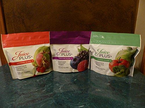 Juice Plus Chewables - Orchard , Garden & Vineyard Blends 120 ct bags 1 each