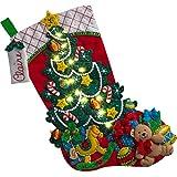 Bucilla 86710 kit de calcetín sorpresa para árbol de Navidad