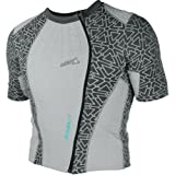 Leatt Coolit Evaporative Cooling Shirt Men's Undergarment Street Racing Motorcycle Body Armor - Grey / X-Small