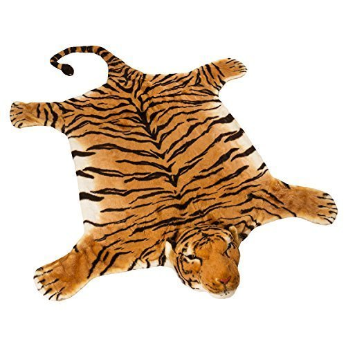 BRUBAKER Huge Brown Tiger Rug 72x42 Inch