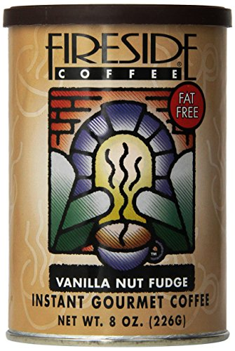Fireside Coffee Cafe Mocha Instant Flavored Coffee 8 Ounce Canister - Vanilla Nut Fudge