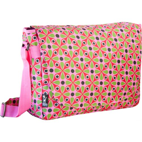 Wildkin Kaleidoscope Laptop Messenger Bag 15.5' Pink Laptop