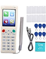RFID NFC IC/ID Reader Copier 125kHz-13.56MHz UID Key Smart Card Key Duplicator with Full Decode Function, Supports Almost All of The Blank Copy Cards