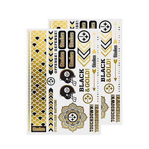 NFL Pittsburgh Steelers Metallic Body Jewelry Stickers -