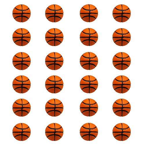 24 Counts Kids Toy Basketball Stress Ball, Mini Foam Squeeze Sports Ball Toys for Kids Fun Party Favors Anxiety Relief by MOMOONNON
