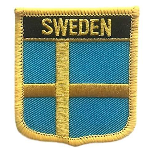 Sweden Flag Shield Travel Patch/International Iron On Tactical Morale Badge (Swedish Crest, 2.75