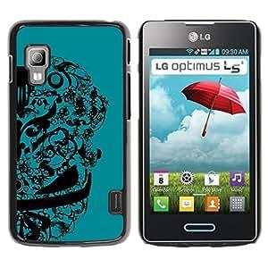 Be-Star Único Patrón Plástico Duro Fundas Cover Cubre Hard Case Cover Para LG Optimus L5 II Dual E455 E460 ( Abstract Floral Design )