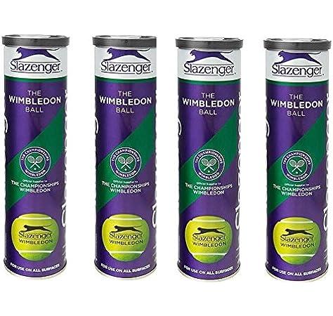 Slazenger Wimbledon Tenis Tubo Metal Pack 12 Pelotas (4 botes x 3 ...