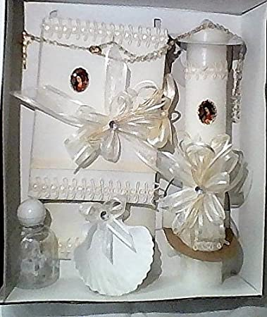 Amazon Com Boy S First Communion Candle Gift Set Includes English