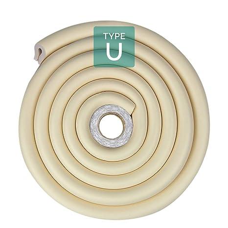 Tritina Protector de la mesa cristal parachoques, 6.6ft / 2m Tipo U Cojín esquina
