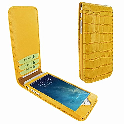 Piel Frama 761 Yellow Crocodile Classic Magnetic Leather Case for Apple iPhone 7 / 8 by Piel Frama