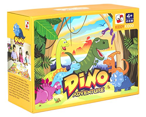 Dino Adventure Table top Board Game Trains Social Skills, Concentration and Focus]()