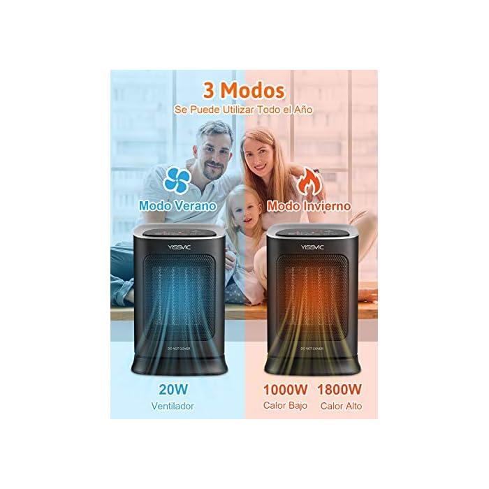 51MDcmwnOsL Calefacción Cerámica PTC: Se calienta rápidamente. El calentador está equipado con un elemento calefactor cerámico PTC para lograr un calentamiento rápido dentro de los 3 segundos posteriores al arranque Oscilación de 70° y Portátil: La oscilación automática asegura una distribución óptima del calor. La función de soplado de gran angular del calentador puede calentar un área grande. El calentador tiene un mango resistente. Esto se puede llevar fácilmente a cualquier lugar de la habitación Función de Temporizador y Termostato: Puede configurar la calefacción eléctrica individualmente entre 0 y 9 horas. Un termostato mantiene constante la temperatura que estableces. Los calentadores de temperatura ajustable pueden ahorrar energía al elegir la configuración más baja que mantendrá su entorno cómodamente cálido
