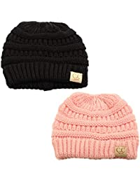 Kids Ages 2-7 Warm Chunky Thick Stretchy Knit Slouch...