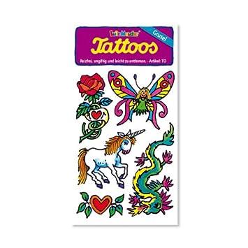 Phantasie Einhorn Drachen Elfen Rosen Tattoos Von Lutz