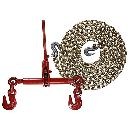 Grade 70 3/8'' x 16' Chain - Ratchet Chain Binder - Made in USA Package by US Cargo Control (Image #1)