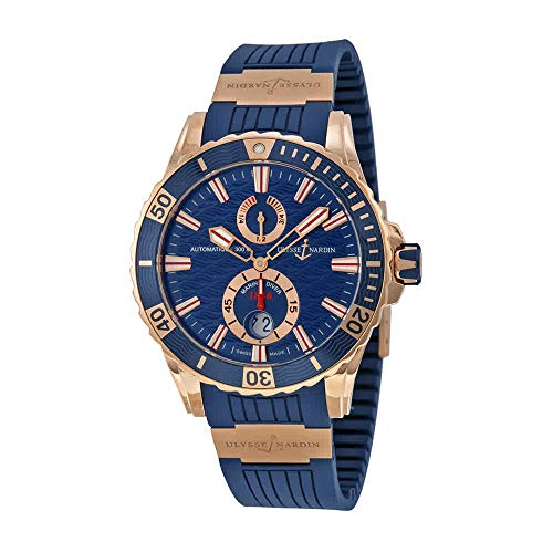 New Mens Ulysse Nardin Maxi Marine Diver 44mm Solid 18K Rose Gold Watch (Maxi Ulysse Nardin)