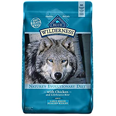 Blue Wilderness High Protein Grain Free Adult Dry Dog Food Large Breed Healthy Weight Chicken