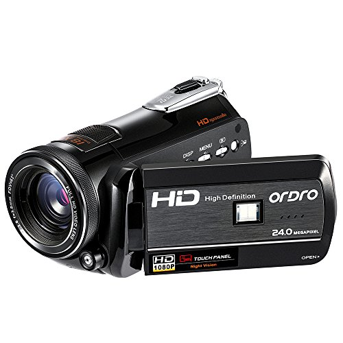 ORDRO HDV-D395 Night Vision Camcorder WiFi Full HD 1080P 18X Zoom Digital Video Camera 3.0Inches LCD Screen Webcam HDMI Remote Control by ORDRO