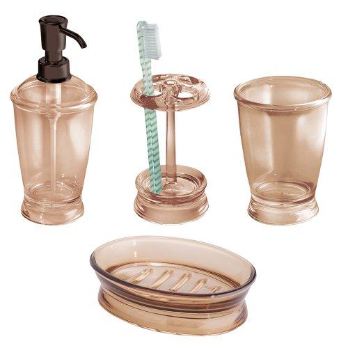 InterDesign Franklin Bath Accessory Set, Soap Dispenser Pump