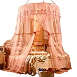 POPPAP Canopy Mosquito Net for Twin Bed Queen King Size Bed Dome Curtains Jade