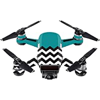 Skin For DJI Spark Mini Drone – Teal Chevron | MightySkins Protective, Durable, and Unique Vinyl Decal wrap cover | Easy To Apply, Remove, and Change Styles | Made in the USA