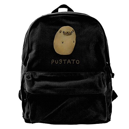 Price comparison product image Cup Pug Nose Potato Pugtato Waterproof Hiking Backpack Travel Bag Canvas Backpack For School Casual Lightweight Laptop Travel Daypack