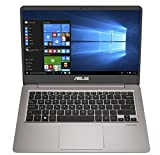 ASUS ZenBook UX410UA-AS74 Ultra-Slim Laptop 14? FHD IPS WideView display, Intel Core i7-8550U Up to 4.00GHz processor, 8GB DDR4, 128GB SSD + 1TB HDD, Windows 10, Backlit keyboard, 3.1lbs, Quartz Grey