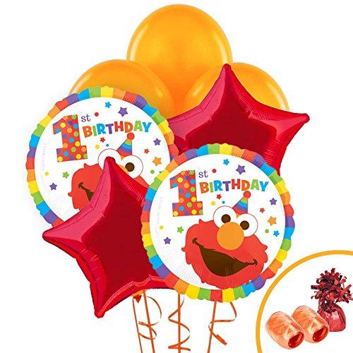 - BirthdayExpress Elmo Turns One Party Supplies Balloon Bouquet Kit