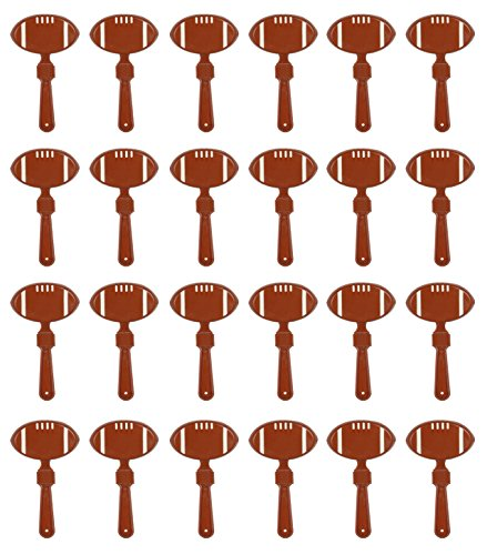 Beistle 60930-BR 24-Pack Football Clappers for Party Favors, 7-Inch