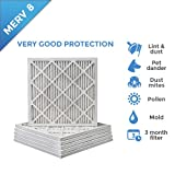 18x18x1 MERV 8 Pleated AC Furnace Air Filters. 12 PACK