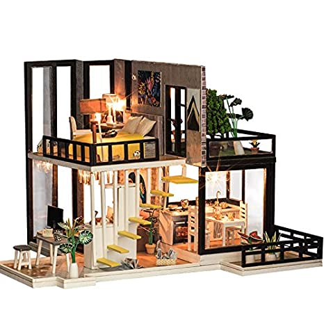 Amazon Com Diy Miniature Dollhouse Accessories Kit With Furniture 1