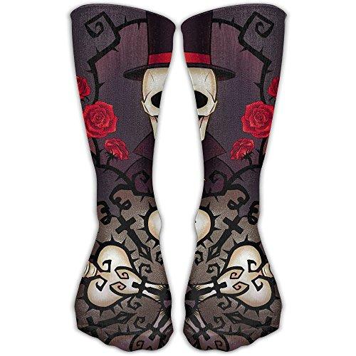 YUANSHAN Socks Skull Gentleman Women & Men Socks Soccer Sock Sport Tube Stockings Length 11.8Inch