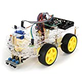 4WD Four Wheel Drive Double-Deck Smart Robot Car Starter For - Arduino Compatible SCM & DIY Kits Smart Robot & Solar Panel - 1 x Unassemble Smart Car Robot Kit (Not including AA batteries.)
