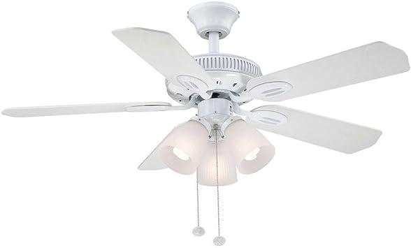 Glendale 42 en. Blanco ventilador de techo: Amazon.es: Bricolaje y ...